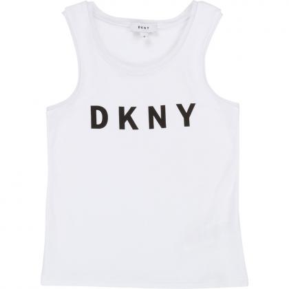 DKNY Tanktop mit Logo - weiß