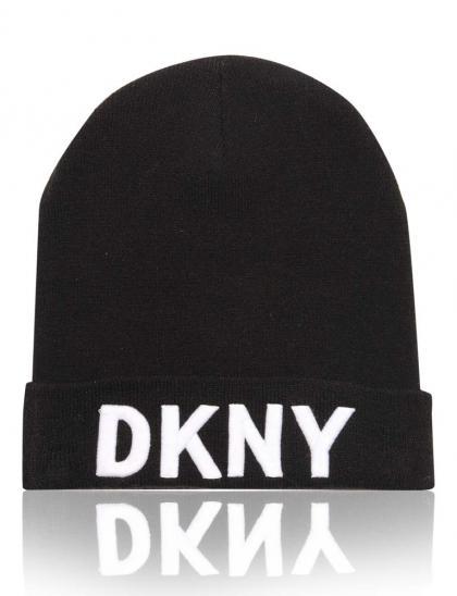 DKNY Strickmütze in schwarz