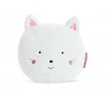 Doudou Kätzchen Kissen organic - weiß