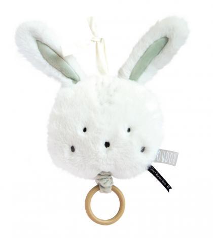 Doudou rabbit Music Box organic - white