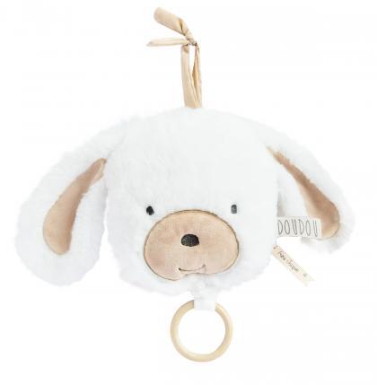 Doudou Hündchen Spieluhr organic - weiß