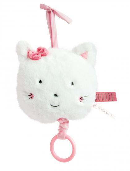 Doudou Kätzchen Spieluhr organic - weiß