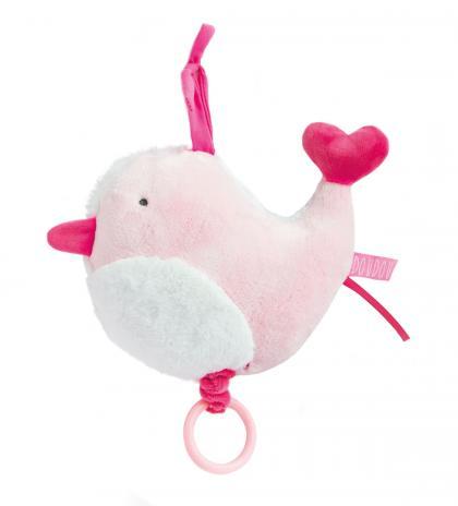 Doudou Vögelchen Spieluhr organic - rosa
