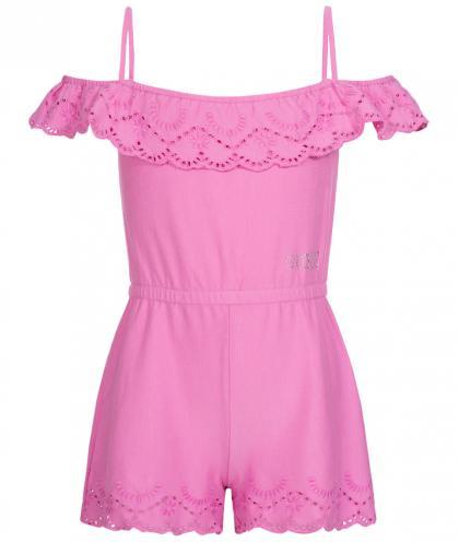 Kurzer Sommerjumpsuit in pink