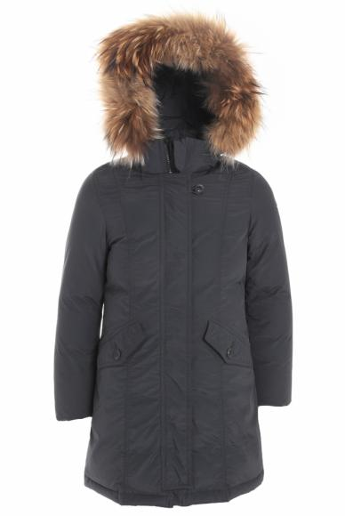 Eddie Pen down jacket  Avey with real fur in anthracite