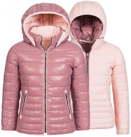 Eddie Pen Fergie Wende-Daunenjacke in rosa