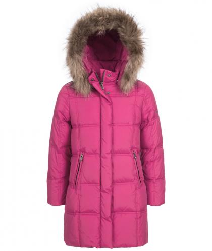 Eddie Pen Paradise down coat with real fur in pink