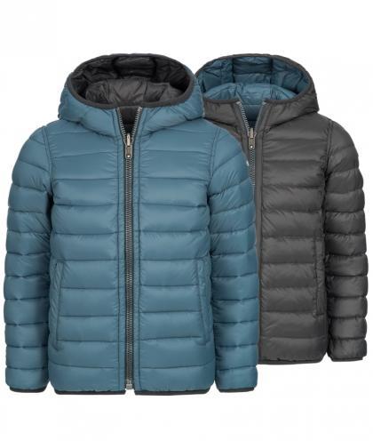 Eddie Pen Alaska reversible down jacket in denim blue