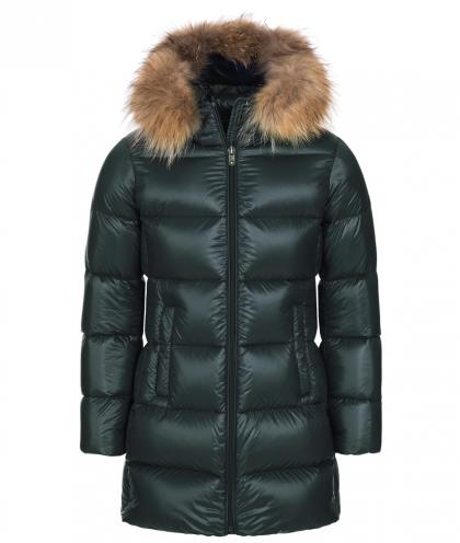 Eddie Pen down coat Willow 2 with real fur - green