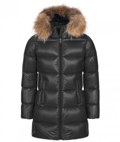 Eddie Pen down coat Willow 2 with real fur - anthracite