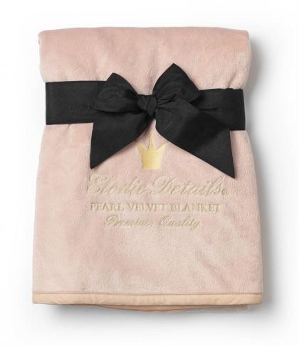 Elodie Details Babydecke aus Perlensamt in puderrosa