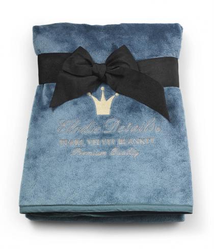 Elodie Details baby blanket of pearl velvet in pretty petrol