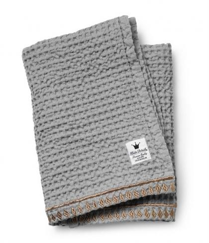 Elodie Details baby blanket with waffle form in grey