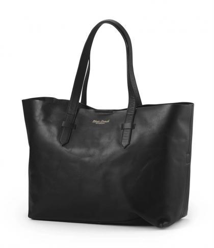 Elodie Details Leder-Wickeltasche mit Innentasche in schwarz