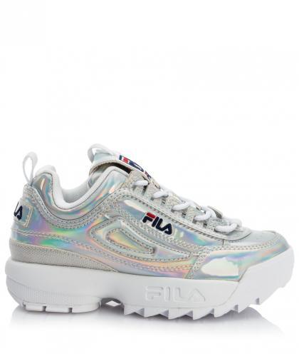FILA Heritage Disruptor Kids Plateau Metallic Sneaker - silber