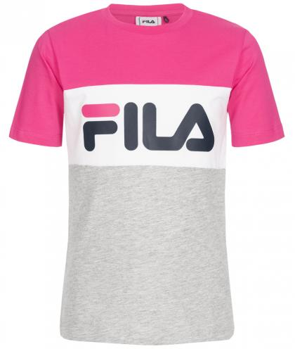 FILA Day Blocked Tee  t-shirt with block stripes - pink