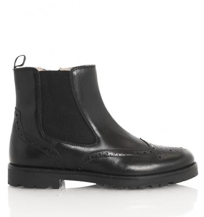 Florens Chelsea Boots Vitello aus Mesh-Leder in schwarz