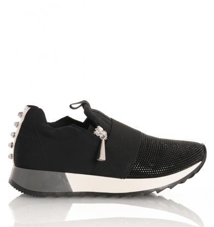 Florens Sneakers mit Strass und Nieten in schwarz