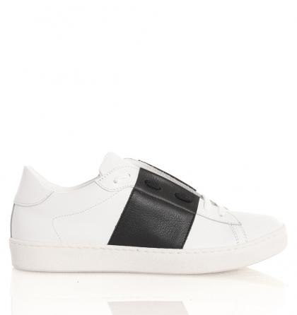 Florens Sneakersof leather in black and white