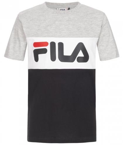 FILA Day Blocked Tee Unisex T-Shirt mit Blockstreifen - grau