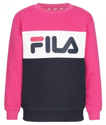 FILA Night Blocked Crew Unisex Sweatshirt mit Blockstreifen - pink