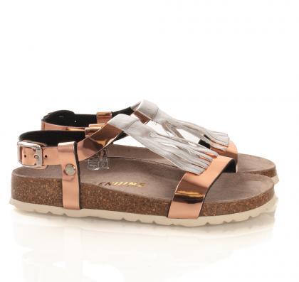 Leder-Sandale Mirror in rose