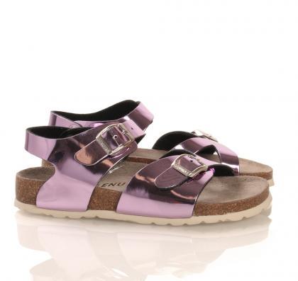 Leder-Sandale Arco Iris in lila-pink
