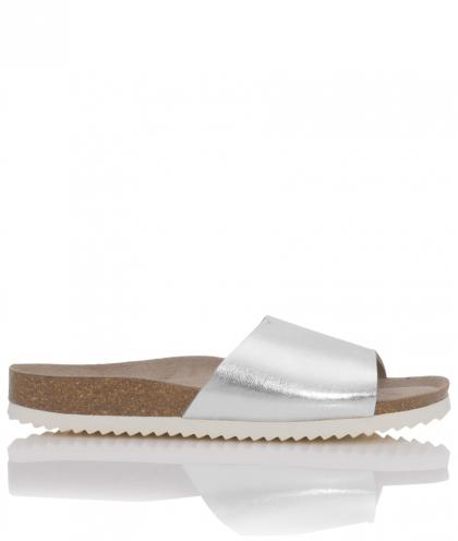 Genuins Leder Sandalen Fundy in silber