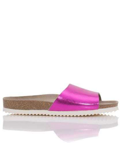 Genuins leather sandals Fundy in fuchsia