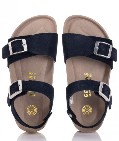 Genuins velour leather sandals Zug Pamarillo - navy