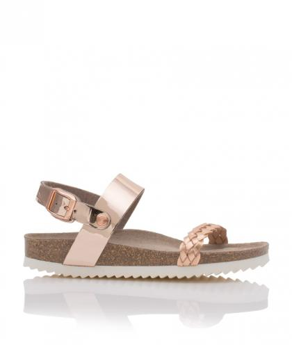 Genuins leather-sandals Pompei in rosegold