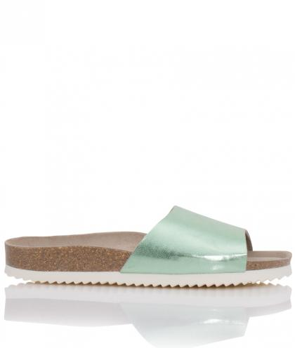 Genuins Leder Sandalen Fundy in aqua