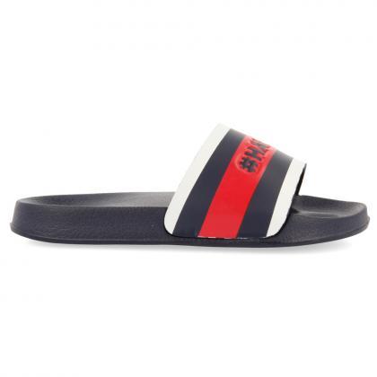 Gioseppo stripes slides - dark blue