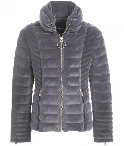 Guess Samtjacke in grau