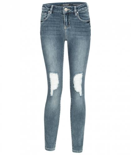 Guess Jeans im Destroyed Look in blau