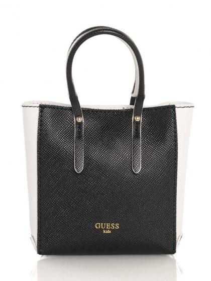 Guess mini handbag in black and white