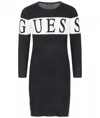 Jaquard Kleid von Guess in schwarz