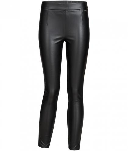 Guess Lederoptik Jegging in schwarz