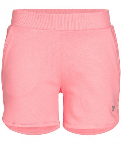Guess Sweat-Shorts mit Glitzer-Logo in rosa