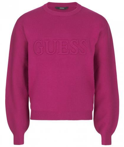 Guess Sweatshirt mit Logo in pink