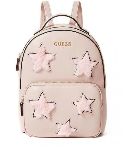Guess Rucksack mit Plüsch-Sternen in rosa