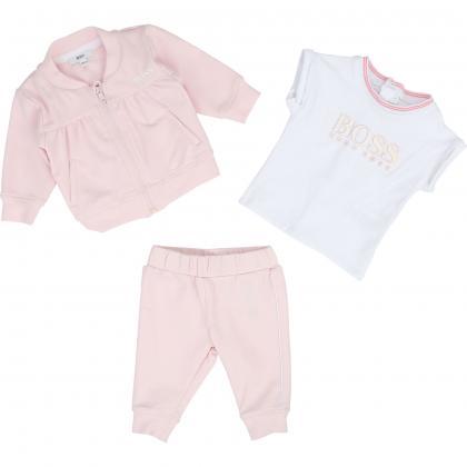 Boss Baby Set aus Jogginganzug und Shirt -  rosa
