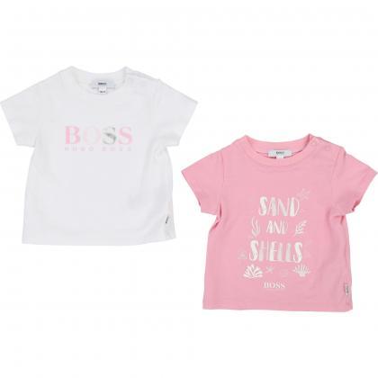 Boss Baby Shirt Set - rosa/weiß