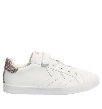 Hummel Sneaker Deuce Court Princess  mit Glitzer in weiss