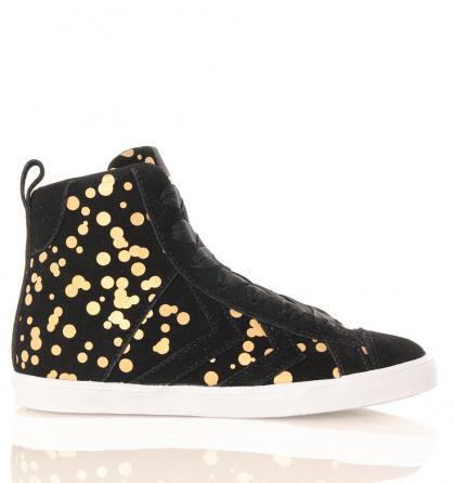 Hummel Strada Dots mit goldenen Metallic-Punkten in schwarz