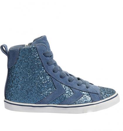Hummel High-Sneaker Strada Princess mit Glitzer in blau