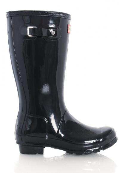 Hunter Original Kids Wellington Boots glänzend in navy