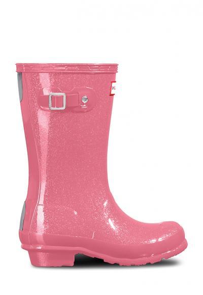 Hunter Original Kids Wellington Boots glänzend in panther pink