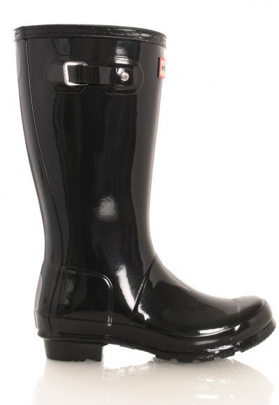 Hunter Original Kids Wellington Boots glänzend in schwarz