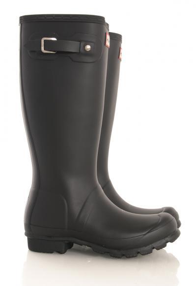 Hunter Original Kids Wellington Boots in schwarz